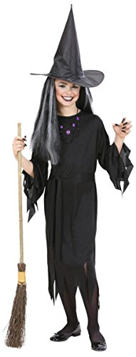 Widman - Disfraz de halloween bruja para niña, talla 8 - 10 años