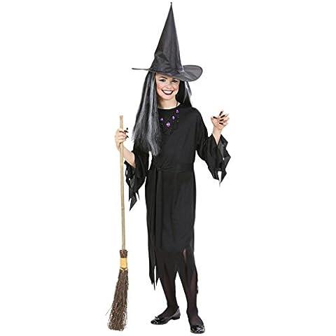 Widman - Disfraz de halloween bruja para niña, talla 11 - 13 años