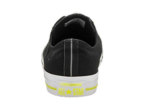 Converse Ctas Mono Ox 015490, Unisex - Erwachsene Sneaker Schwarz / Weiß / Volt