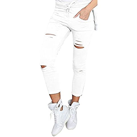 Ularma Pantalones de las mujeres, Pantalones de lápiz Slim Stretch Skinny cintura alta