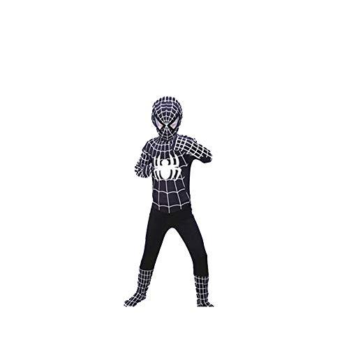 YANJJ Halloween Spiderman Kostüm Kinder Erwachsene Strumpfhosen,High(100-110Cm)-D
