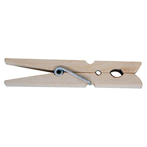 madera de haya pinzas de ropa de madera 110/mm 50/unidades. /Pinzas de cabeza redonda Hagspiel/