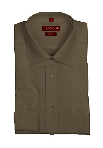 Redmond–camicia a maniche lunghe da uomo, in diversi colori, stile: regular fit (150100) braun(30) l/45/46