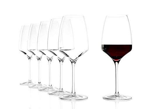 Stölzle Lausitz Rotweinkelch Experience 450ml, 6er Set Weinglas, hochwertige Qualität, spülmaschinenfest