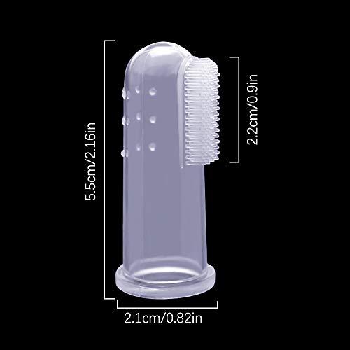 Winstory Finger-Zahnbürsten für Haustiere, weich, Latex, für die Zahnreinigung von Hunden oder Katzen, 3 Stück - 3