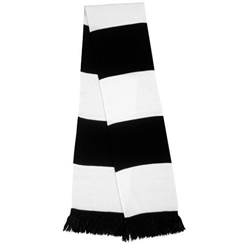 MAKZ - Echarpe - Homme Noir - Noir/blanc