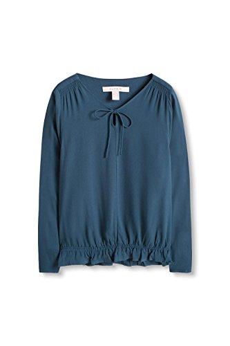ESPRIT Damen Bluse Blau (teal Blue 455)