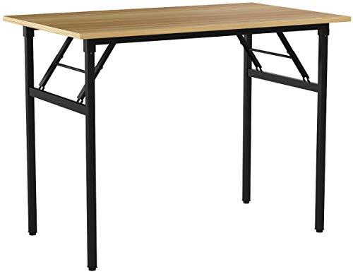 Need Tavoli Pieghevole 100x60cm Scrivanie Studio Tavoli Ufficio Postazioni di lavoro per Computer Rovere Teak AC5BB-100