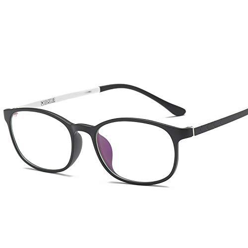 YMTP Myopie Frame Für Frauen Brille Brillen Brillengestell Brillen Optische Brillen Frames Für Männer Brille, Schwarz Whtie