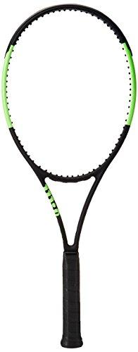 Wilson Blade 98 18X20 Cvfrm W/O Raqueta de Tenis, Unisex Adulto, Negro/Verde (Black Velvet/Electric Lime), 3