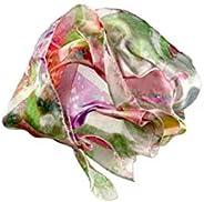 """Silk scarf""""Buzzing Garden"""