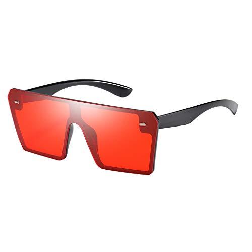 Lazzboy Mode Mann Frauen Oversize Square Sonnenbrille Brille Shades Vintage Retro Style(E)