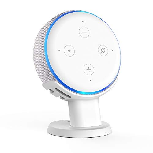 Gelink Schreibtisch Halter Desk Holder Mount für Echo Dot (3. Gen.) (Weiß)