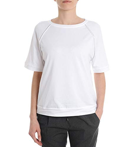 Brunello Cucinelli T-Shirt Donna M0t18h0430ce765 Cotone Bianco