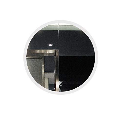 YANHAI Runde wasserdichte Beleuchtete LED-Badezimmerspiegel-Wand-Make-up-Spiegel Mit Weißlicht-Bluetooth-Sensor-Noten-Steuerung Und Demister-Auflage Bluetooth White light-70cm - Make-up-spiegel Beleuchtete Wand