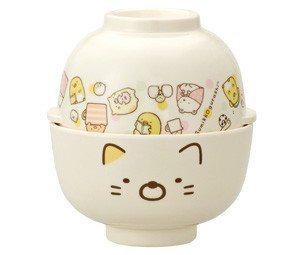SKATER Sanrio Sumikko Gurashi Katze Melamin Rice Schüssel & Suppenteller Set MCW1