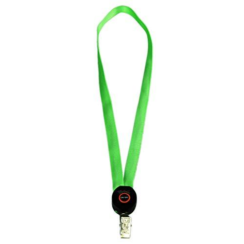 Luckiests Light Up Lanyard Schlüsselanhänger ID Badge Halskette befestigt Halter Hangeltau