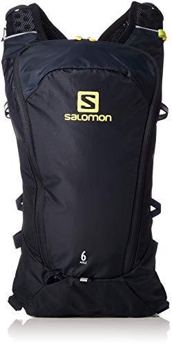 Salomon, Sac à Dos Léger de Course 6L, AGILE 6 SET, Bleu foncé/Jaune (Night Sky/Sulphur Spring), L40412700