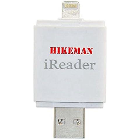HIKEMAN iReader i-FlashDrive HD Micro SD Card lettore Memory Stick aggiunta Extra Storage per il tuo iPhone/iPad molto più facile per salvare foto/Videos per iPhone 5S/6/6S/6Plus/6S Plus