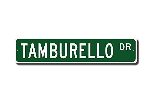 qidushop tamburello sign tamburello ventola tamburello partecipante gift tradizionale sport dell' italia street sign in metallo per donne novità targa in metallo per interni ed esterni