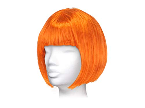 Parrucca da donna per carnevale di vari colori, taglio corto bob, taglia unica per donne adulte stile elegante classica comoda confortevole da indossare bellissima fashion lifestyle, corto arancione