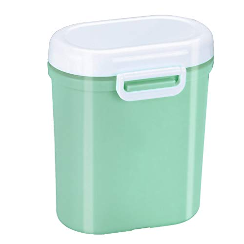 Milchpulver Aufbewahrung Milchpulver Spender Portable Baby Milchpulver Dose Container Box BPA-frei Lebensmittel Snacks Obst Lagerung, für Infant Kleinkind Kinder-Anzug für die Reise (Grün) (Milchpulver-box)