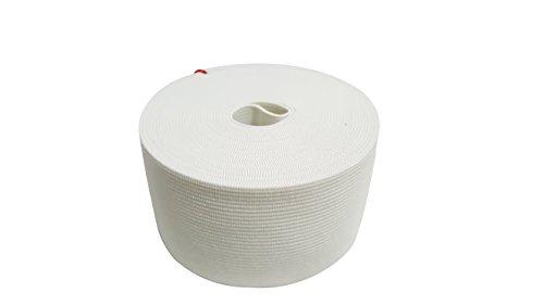 Fascia elastica, lavorazione a maglia pesante, con grande elasticità, bianca, 5 cm x 5 m
