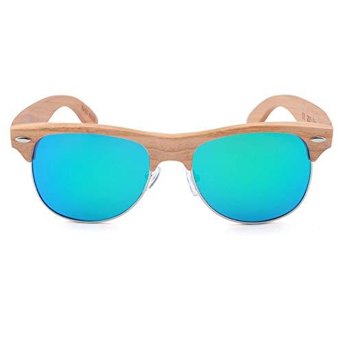 WULE-Sunglasses Unisex New UV400 Blue Sonnenbrille Color Film Herren Polarisator Europa und Amerika Damen Brille