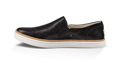 Ugg Australia Women's Hadria Leather Brogues Slip On In Black 100% Leather Black