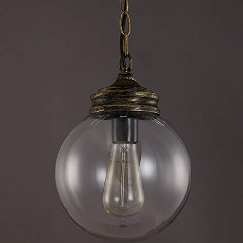 ZSYUN Vintage Loft Globe Ball Pendelleuchte Schmiedeeisen Glas Lampenschirm Hängelampe Küchenbar Leuchte led (Farbe : AC 220V, Größe : Kaltes Weiß) (Globes Vintage Deckenventilator)