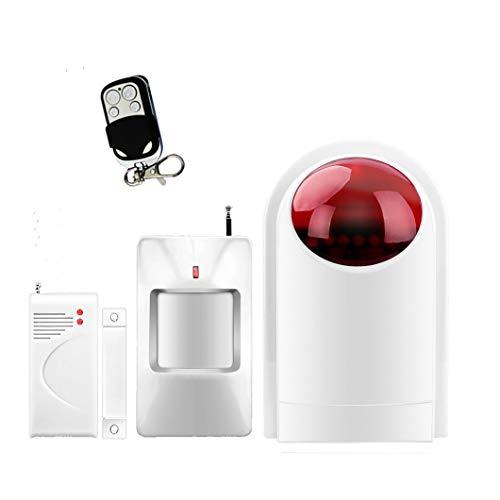 ECTECH Home Alarm Security System Kit-Wireless Burglar Alarm System mit Flash-Siren-Einheit-Window Door Sensors, PIR Motion Sensor und Remote Controls - Pir-systems