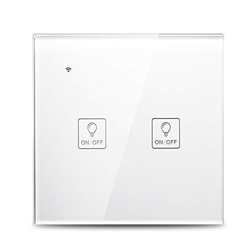 Decdeal Smart WiFi Interruptor táctil Inalámbrico, Alexa/Google Home Voice Control Interruptor Inteligente...