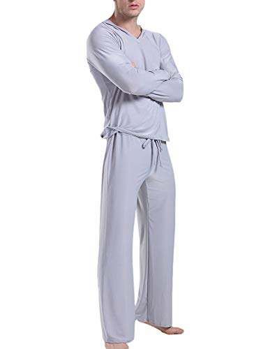 keepmore Komfortable Milchseiden-Pyjama-Sets für Herren, Langarm-Fitness, Kampfsportarten, Tai Chi Yoga-Set