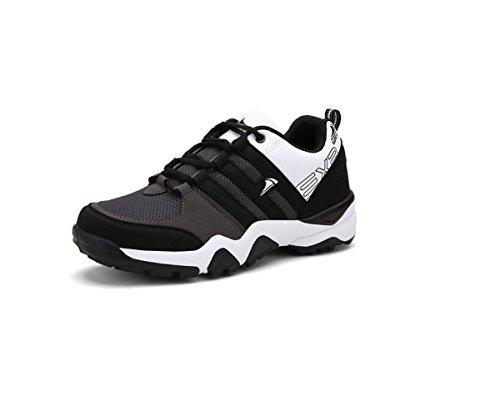 Sneaker en cours d'exécution respirant hommes chaussures chaussures de loisirs black white