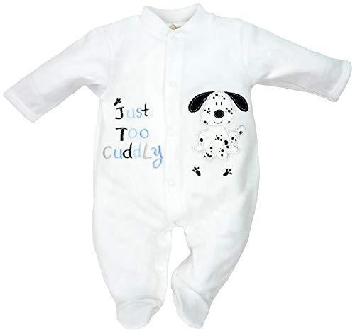 Just Too Cute - Baby Jungen Strampler Schlafanzug aus Nicki Dalmatiner Gr. 62/68 (3/6M)