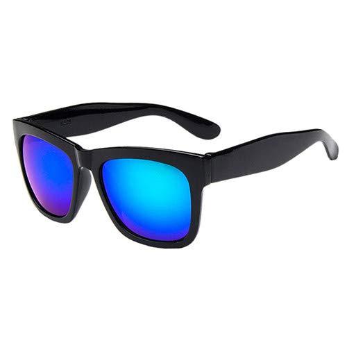 Man9Han1Qxi Sport-Sonnenschutz-im Freien quadratischer Rahmen-Bunte Sonnenbrille-Geschenk-Anti-UVsonnenbrille der Männer Frauen Black Frame Green Lens
