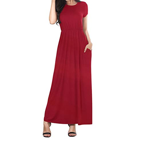 Sonojie Frauen Casual Einfache V-Ausschnitt Einfarbig Lrregular Loose Summer Sleeveless Dress