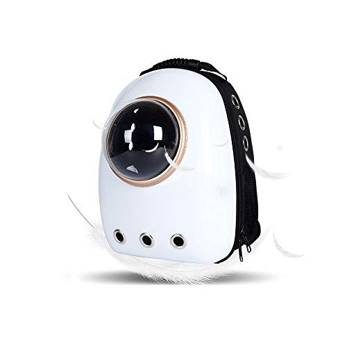 AQY Tragbarer Pet Travel Breathable Rucksack, wasserdichter Handtasche für Katze und Small Dog Camping Pet Carrier Rucksack,White (Dog Carrier White)