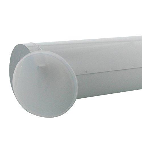 BURG-WÄCHTER Zeitungsrolle mit Kunststoffabdeckung, Briefkastenergänzung, Verzinkter Stahl, 800 W, Weiß - 3