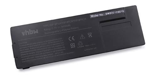 vhbw Li-ION Batterie 4400mAh (11.1V) pour Ordinateur PC Sony Vaio VPC-SB11FX/B, VPC-SB11FX/W, VPC-SB11FXB comme VGP-BPS24.