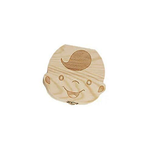 Box Saver Aufbewahrungsbox Holz Kinder Zähne Halter organisieren Box Milch Zähne Keepsake für Mädchen Jungen - Holz ()