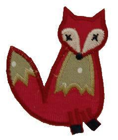 TrickyBoo 2 Aufbügler Fuchs 7X8cm Blume Stiel 7X11cm Set Aufnäher Flicken Applikationen zum Ausbessern von Kinder Kleidung mit Design...