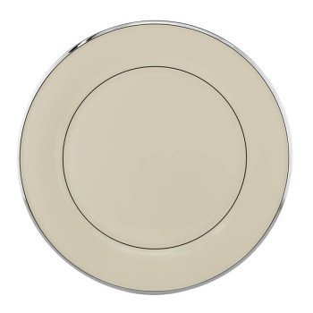 Lenox Solitaire Platinum Banded Ivory China Buffet/Service Plate by Lenox Platinum Ivory China