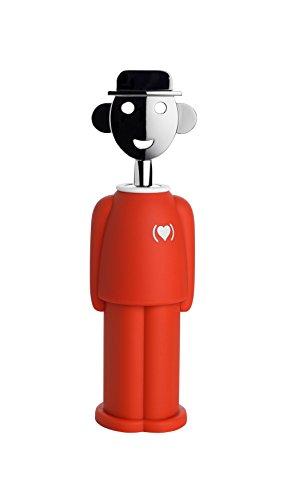 Alessi Am23 Red (Product)red Alessandro M. Tire-bouchon en Résine Thermoplastique et Zamac Chromée, decoré à la Main