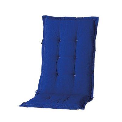 Madison 7MONL-B250 Stuhlauflage, niedrig Panama duo, 50 x 105 cm, Baumwolle / Polyester, blau / grau