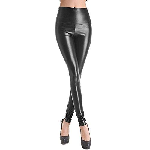 brillante elegante pantalones mujer largos Leggings pantalones de cuer