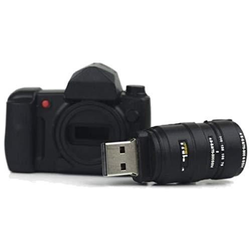 Ulticool Kamera 16 GB 3.0 - Hohe Geschwindigkeit - mit Objektiv USB Flash Pen Drive - Camera with Lens Memory Stick Daten Storage - Camera Speicherstick- Schwarz