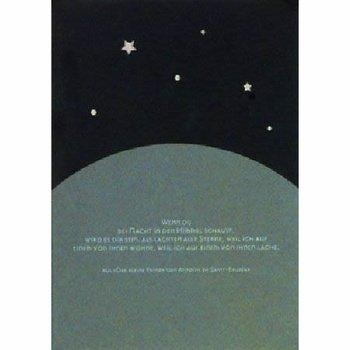 """Trauer Karte """"Wenn Du bei Nacht ..."""""""