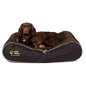 Dog Doza Hundebett, wasserbeständig, robust Größe M/L braun und schwarz
