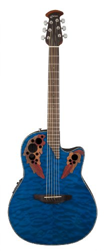 Ovation Celebrity Elite Blue Transparent Quilt | E-Akustik Westerngitarre | NEU